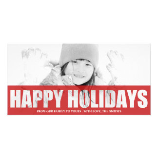 HAPPY HOLIDAYS CUT OUT PHOTO CARD