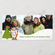 Happy Holidays Cute Bear Family Photo Card
