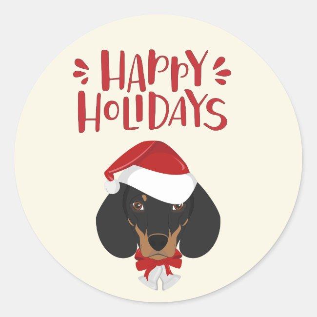 Happy Holidays - Cute Dachshund Christmas