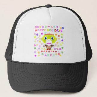 Happy Holidays-Cute Monkey-Morocko Trucker Hat