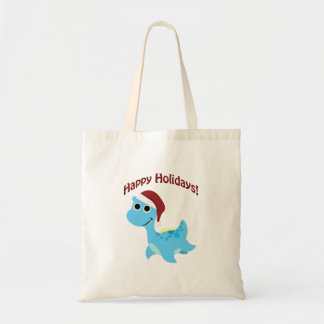 Happy Holidays! Cute Nessie Budget Tote Bag