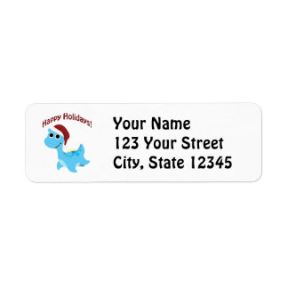 Happy Holidays! Cute Nessie Label