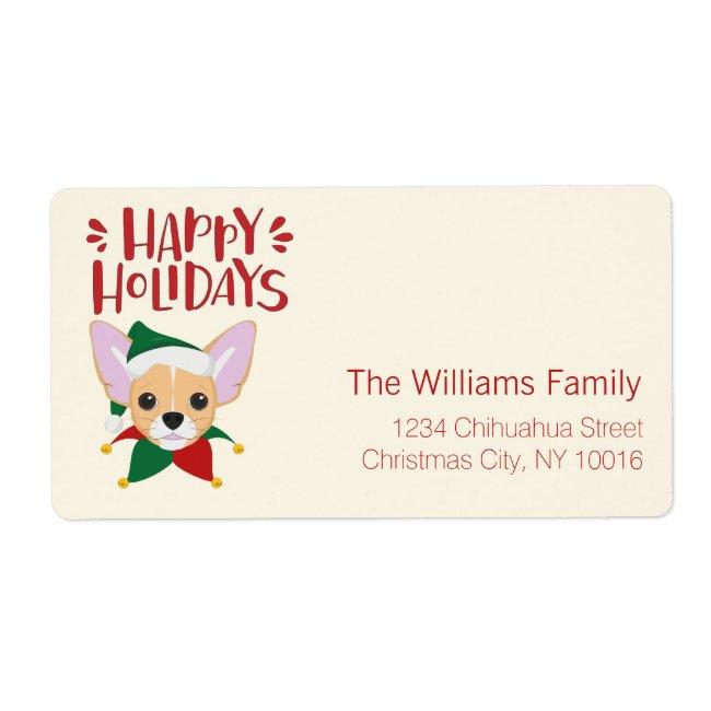 Happy Holidays - Cute Santa Chihuahua Christmas