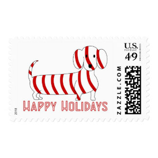 Happy Holidays Dachshund Postage