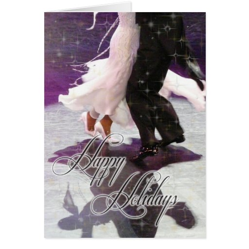 Happy Holidays Dancers PERSONALIZED Greeting Cards