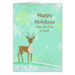 Happy Holidays Dear and Snowflakes Greeting Cards