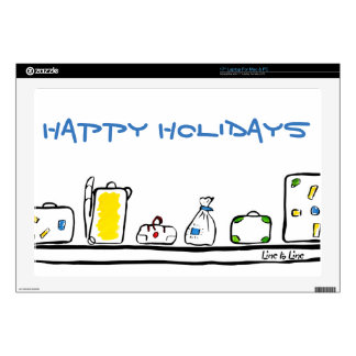 "Happy Holidays Decal For 17"" Laptop"