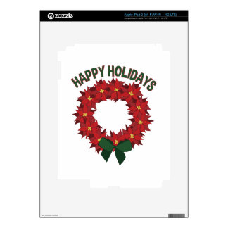 Happy Holidays Decal For iPad 3