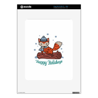 Happy Holidays Decal For The iPad