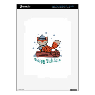 Happy Holidays Decals For iPad 3