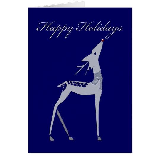Happy Holidays - deer reindeer Card