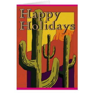 Happy Holidays Desert Cactus , Christmas Card