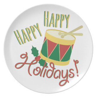 Happy Holidays Dinner Plate