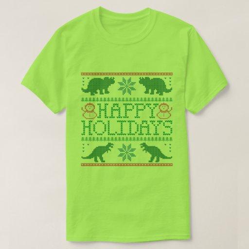 Happy Holidays Dinosaur