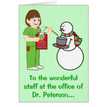 Happy Holidays Doctor's Office Name Customizable Card