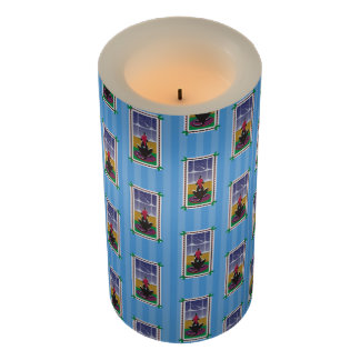 Happy Holidays_Dog Bone Stars_Wishes Come True2 Flameless Candle