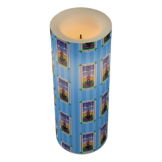 Happy Holidays_Dog Bone Stars_Wishes Come True3 Flameless Candle