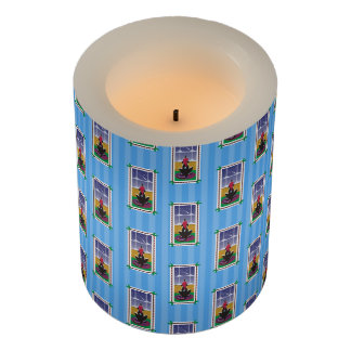 Happy Holidays_Dog Bone Stars_Wishes Come True Flameless Candle