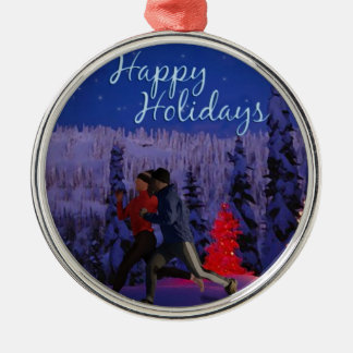Happy Holidays - Double Runners Ornament