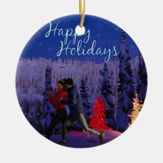 Happy Holidays - Double Runners Christmas Tree Ornaments