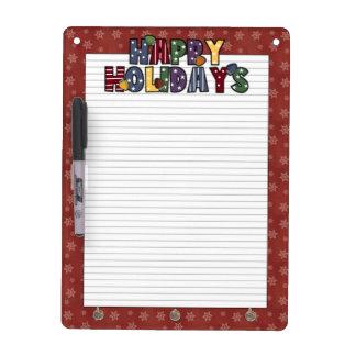 Happy Holidays Dry Erase Board