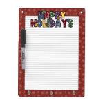 Happy Holidays Dry Erase Whiteboard