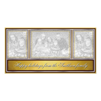 Happy Holidays Elegant Modern Gold Card