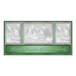 Happy Holidays Elegant Modern Green Card