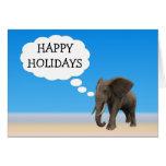 Happy Holiday's Elephant Greeting Card