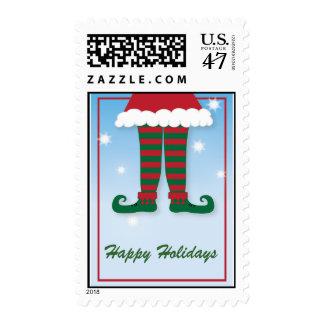 Happy Holidays Elf Christmas postage