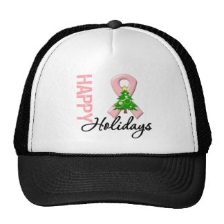 Happy Holidays Endometrial Cancer Awareness Trucker Hat
