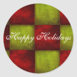 Happy Holidays envelope seal Sticker