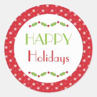 Happy Holidays Envelope Stickers