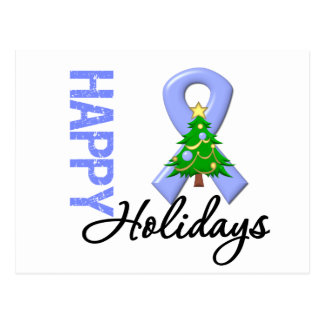 Happy Holidays Esophageal Cancer Awareness Postcard