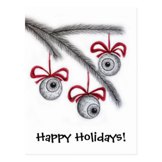Happy Holidays Eyeballs postcard
