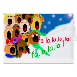Happy holidays, fa,la, la, la,la!! card