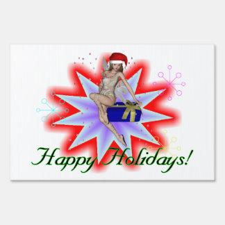 Happy Holidays Fairy Sign