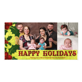 Happy Holidays Family Collage Photocard Photo Card