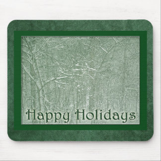 Happy Holidays February Snow Storm Mouse Pad