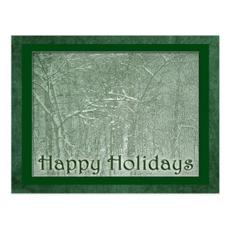 Happy Holidays February Snow Storm Postcard
