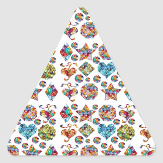HAPPY HOLIDAYS Fever : SHARE the JOY Triangle Sticker