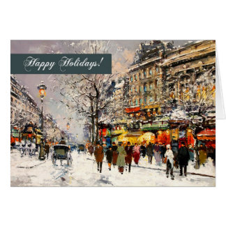 Happy Holidays. Fine Art Christmas Greeting Cards