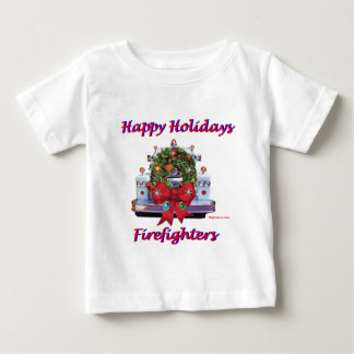 Happy Holidays Firefighters Baby T-Shirt