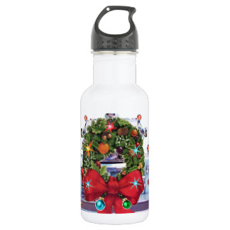 Happy Holidays Firefighters 18oz Water Bottle