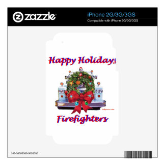 Happy Holidays Firefighters iPhone 3 Skins