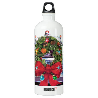 Happy Holidays Firefighters Water Bottle