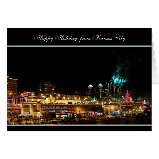 Happy Holidays Fireworks Kansas City Plaza Lights Card