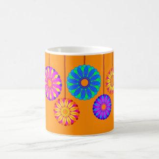 Happy Holidays Flower Decorations Mugs