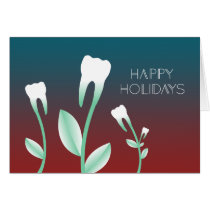 HAPPY HOLIDAYS flowering teeth Card