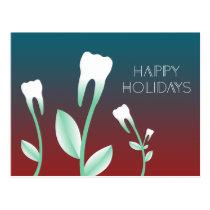 HAPPY HOLIDAYS flowering teeth Postcard